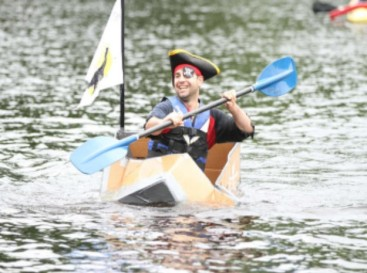 pirate-in-cardboard-boat