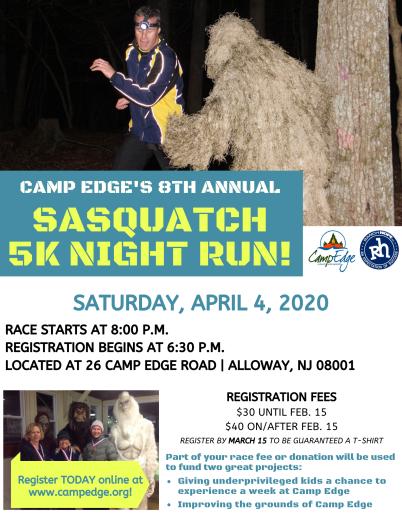 Sasquatch Run April 4, 2020