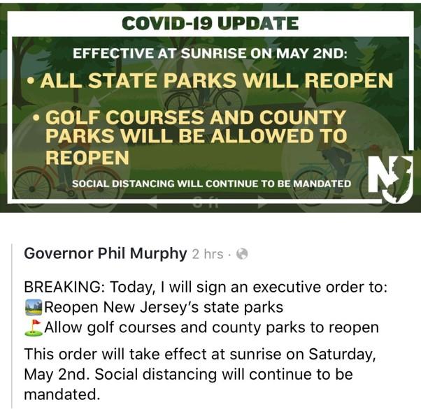Park COVID 19 update 4.30.20